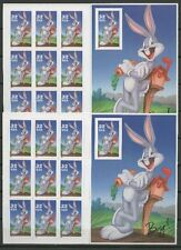 Bugs Bunny- 1 Markenheft / Booklet A/B ** MNH 1997 1 x singel stamp imperforated