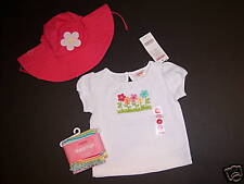 NWT Gymboree Spring Rainbow 3-6 Months Embroidered Flower Tee Leggings & Hat