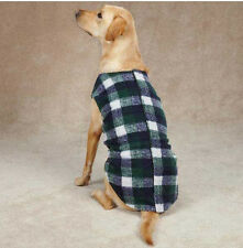 Zack and Zoey Navy/Green Berber Plaid Ripstop Dog Vest Coat Jacket WARM XSMALL