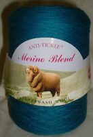 King Cole Pure Wool Yarn 500g Cone 4ply Machine Knitting or Hand Lots of colours