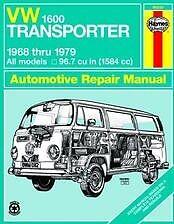 VW 1600 Bus Transporter Haynes Repair Manual NEW 68-79 Owners Book Service