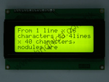 10pcs 2004 20x4 HD44780 Character LCD Display Module LCM Yellow Green (98x60mm)
