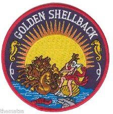 USN NAVY GOLDEN SHELLBACK CREW PATCH