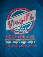 Virgil's 50's Restaurant Sevierville TN Blue T Shirt Adult L Free US Shipping