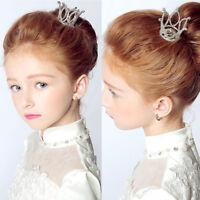 Mini Crown Tiara Hair Combs Clear Rhinestones Crystal Bridal Pageant Party. HOT