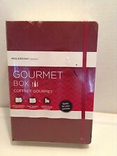 Moleskine Gourmet Box, Recipe Journal, Wine Journal, Tasting Notes, NIB, Maroon