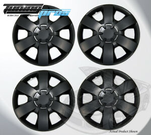 """14"""" Inch Snap On Matte Black Hubcap Wheel Cover Rim Covers 4pc, 14 Inches #226"""