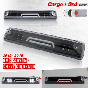 15-18 Colorado/Canyon Cargo Black Smoke 3D LED Clear Lens Third Brake Lights