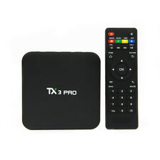 2017 4K S905x TX3 PRO Quad Core Android 6.0 TV Box Media Player Sport Live Movie