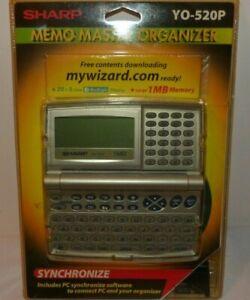 Sharp (YO-520P) Synchronize Memo Master Organizer w/ Back Light Display - New