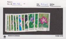 Nauru - 1990 Flower Set. Sc. #380-92, SG #391-402. Mint NH