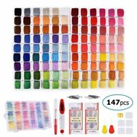 Embroidery Cross Stitch Floss with Organizer Storage Box 108 Color Floss Kits