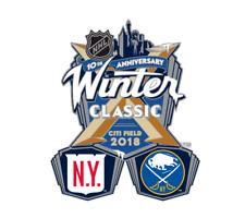 2018 NHL WINTER CLASSIC DUELING PIN NEW YORK RANGERS VS BUFFALO SABRES 1/1