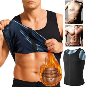 Men's Neoprene Waist Trainer Body Shaper Sweat Sauna Vest Weight Loss Workout