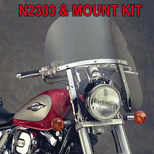 SUZUKI M50 BLACK M50 BOULEVARD 2005-09 N.C. DAKOTA 4.5 WINDSHIELD N2303 & MOUNT