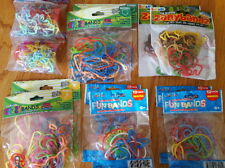 240 Rubber Bands, BANDS, SILLY, CRAZY, ZANY, Assorted Fun Silicone