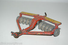 DINKY TOYS 322 27H 27 H DISC HARROW GOOD CONDITION SPARE OR REPAIR