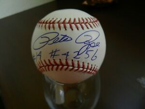 PETE ROSE SIGNED OFFICIAL BASEBALL w/#4246 & #14 INSCRIPTIONS