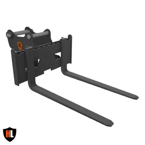 Pallet Forks Tines for Excavator / Digger 2 -3.5 Ton Tonne Fixed Type