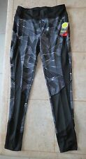 Athletic Legging Sz M (8-10) DANSKIN NOW Fashion Reflective with Sheer Detail