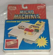Playset Micromachines Station de lavage Vintage Galoob IDEAL Carwash A-15