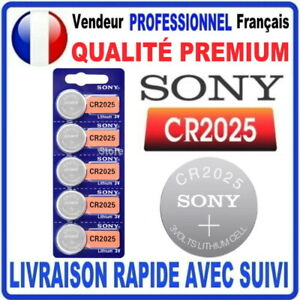 Pile CR2025 Lithium 3V SONY Pile bouton QUALITÉ PREMIUM SONY