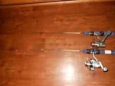 "New listing Lot Of 2 Ht Ice Blues Ib 24"" Light Ice Fishing Pole Rod Reel Combos"