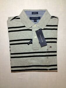 Tommy Hilfiger - Light Grey with Black Striped - men's medium - Custom fit