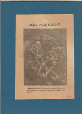 Flugblatt - Blick in die Zukunft  Etwa 1941 ohne Kennung
