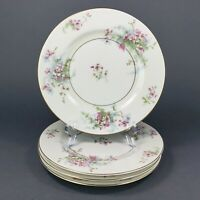 "Theodore Haviland New York Apple Blossom Salad Plates 7.5"" Set of 4"