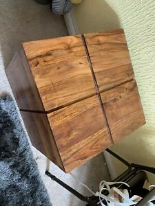 Wooden Cube Coffee / Side Table With Storage