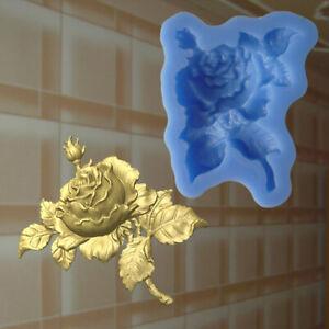 Rose silikonform Blumen Gießform resin Relief Mould Deckenverzierung (147)
