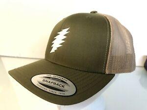 Grateful Dead Bolt Embroidered Yupoong Retro Snapback Trucker Cap