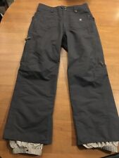 Women Burton Radar Snowboard Ski Pants Size Small Short Gray Cargo