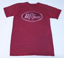 Dr. Pepper Mens Savvy Red Cotton Polyester T-Shirt Size Small