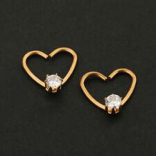 Pair Heart Cartilage Earrings Hoop Nose Piercing Hoops stainless steel piercing
