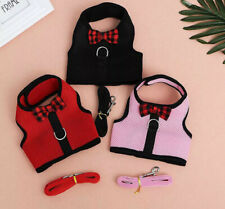 SMALL PET PUPPY DOG KITTEN GUINEA PIG RABBIT MESH HARNESS LEAD LEASH COLLAR SET