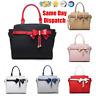 Ladies Glossy Fashion Bow Style Shoulder Handbag Women Tote Shopper Leather Bag