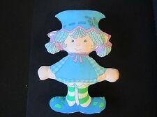 Vintage BLUEBERRY MUFFIN Pillow Doll Stuffed Fabric Plush Strawberry Shortcake