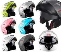 FF860 - FLIP UP MOTORBIKE CRASH HELMET MOTORCYCLE SCOOTER MOPED WITH SUN VISOR
