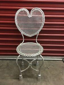 Rope and Tassel Heart Chair Hollywood Regency Italian Guilt Silver-Leaf