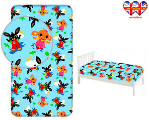 Fitted Sheet Bing Bunny Single Bed%100 Cotton, Official Licensed,(200x90x25cm)