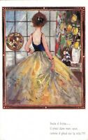 Art Deco Lady Artist Signed Snam 05.73