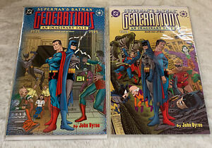 Superman & Batman Generations lot - Book One and Two 1, 2 JOHN BYRNE