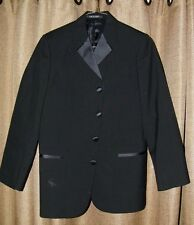 Preowned After Six Boy Boys Black Tuxedo JAcket Size 14 B 4 Button