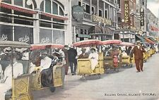 N.J. Atlantic City Rolling Chairs Bank Schlitz Hotel Dunlop 1917