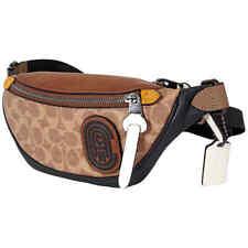 Coach Rivington Khaki/Brown Belt Bag 7 In Signature Canvas 89081 JIPVI