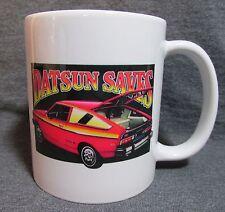 Datsun Saves Coffee Cup, Mug - Vintage Ad Image - Datsun B210 - Classic 70's