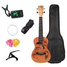 Kits de Ukelele de Concierto 23 Pulgadas 4 Cuerdas Guitarra Acústica con Bo F5M5