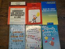 Lot de 6 livres de pédagogie à l'école élémentaire